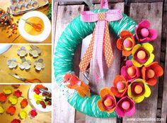 ★ ✄ DIY Couronne Récup' Printemps / DIY Spring Wreath ★ ✄   www.creamalice.com