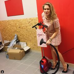 Zosia Ślotała with SteaMaster! #steamster #ironing #iron #red #zosiaslotala #stylist #celebrities #star #fashion