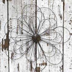 Wire Wall Flower