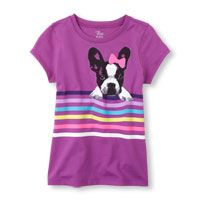 striped dog photo-real graphic tee