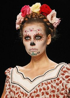 day of the dead - halloween makeup....I wish Bree would let me do this for her!!