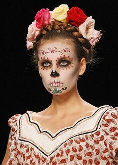 Lena Hoschek's spring/summer 2013 catwalk show Day of the Dead makeup