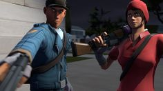 Scout and Femscout during co-op mercenary mission.