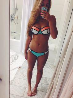 Bikini inspiración Triangle por solo 3 euros / Triangle style bikini only Sexy Bikini, The Bikini, Bikini Swimwear, Bikini Girls, Cute Bikinis, Cute Swimsuits, Summer Suits, Summer Wear, Cute Bathing Suits