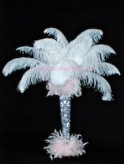 Glass trumpet feathers with diamonds––fit for a fairy queen