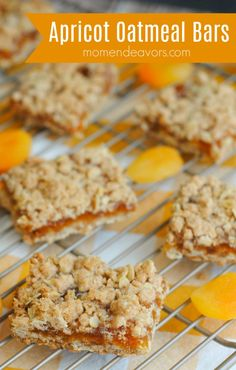 Enjoy these Apricot Oatmeal Bars for a simple dessert or maybe even a sweet breakfast treat! I'm on an oats kick lately – making oatmeal muffins and overnight slow cooker oats! Oatmeal Breakfast Bars, Oatmeal Bars, Sweet Breakfast, Oatmeal Muffins, Overnight Breakfast, Fruit Recipes, Baking Recipes, Cookie Recipes, Dessert Recipes