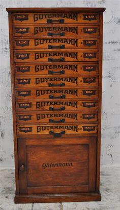 Gutterman Sewing Thread Pine Cabinet- ultimate thread storage!