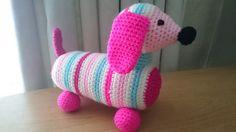 Sausage dog amigurumi Crochet