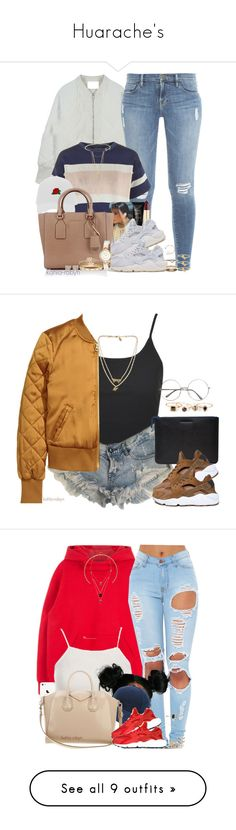 """""""Huarache's"""" by kahla-robyn ❤ liked on Polyvore featuring Frame, Topshop, Yves Saint Laurent, NARS Cosmetics, NIKE, Michael Kors, Madewell, Maison Margiela, Cast of Vices and Diamonds Unleashed"""