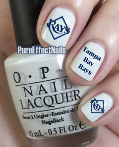 Tampa Bay Rays Nail Decals by PureEffectNails on Etsy, $4.00