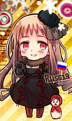 Axis Powers Hetalia-Another Color! (Commonly referred to as 2P designs) 2P! Nyotalia Russia as of 2011.