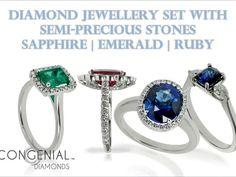 Stunning engagement rings set with sapphire, emerald or ruby from Congenial Diamonds