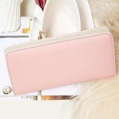Women Clutch Purse Wallet Bifold Card Holder Organizer Handbag Bag Envelope  J1