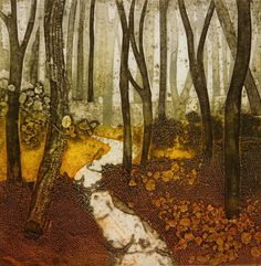 'The Path Less Travelled' by Sarah Ross-Thompson Collagraph Printmaking