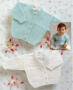 2B8219  baby cardigans knitting pattern lacy cardigans lace jacket premature newborn 14-22 inch 3 ply baby knitting patterns pdf instant download