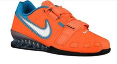 Nike Men's Romaelos II Powerlifting Shoes - Total Orange/White/Blue Lagoon The Nike Romaleos 2 is a lightweight, flexible powerlifting shoe that can withstand Nike Air Max Sale, Nike Shoes For Sale, Cheap Nike Air Max, Nike Shoes Cheap, Weightlifting, Weight Lifting Shoes, Mens Training Shoes, Orange Shoes