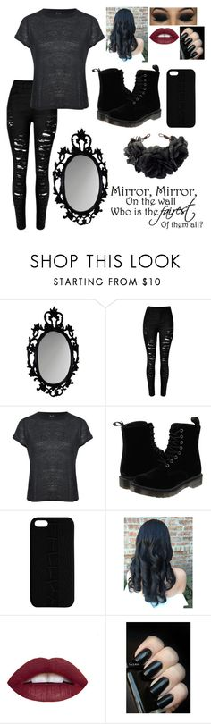 """Mirror, Mirror, On the wall, Who is the fairest of them all?"" by moose33 ❤ liked on Polyvore featuring Brixton, Dr. Martens, Maison Takuya, L.A. Girl and Rock 'N Rose"