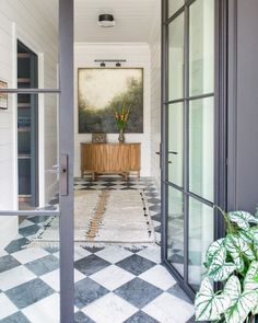 My Strategy To Bring Color, Pattern, And Personality Into The Farmhouse Bathrooms And Kitchen (Without It Feeling Dated In 15 Years) - Emily Henderson Checkerboard Floor, Checkered Floors, Checkered Floor Kitchen, Floor Decor, White Stone, Beautiful Space, Kitchen Flooring, Modern Farmhouse, Farmhouse Bathrooms