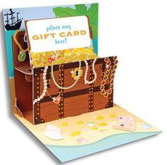 pop up treasures gift card holder - make similar for invitations?