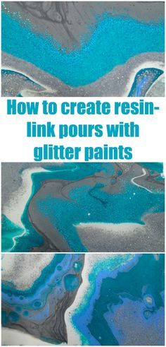 How to create resin like acrylic pours using metallic and glitter paints for a vibrant and sparkly 3d effect acrylic painting. Acrylic pouring video tutorial