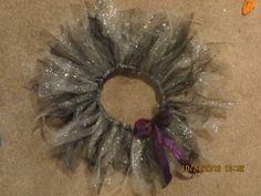Tutu made from elastic, cut strips of tulle, tied around in slip knots. Tutu, Knots, Wreaths, Halloween, Decor, Decoration, Door Wreaths, Tutus, Deco Mesh Wreaths