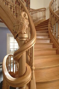 52 Ideas For Interior Stairs Design Stairways Newel Posts Grand Staircase, Staircase Design, Wood Staircase, Beautiful Stairs, Beautiful Swan, Newel Posts, Take The Stairs, Wooden Stairs, Painted Stairs