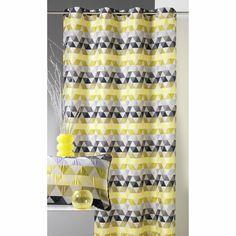 """Rideau jacquard à œillets motifs graphiques polyester """"Triangles"""" Home Maison - 3Suisses"""