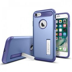 Spigen Slim Armor Case for Apple iPhone 7 - Violet - Retail Packaged - The Spigen Slim Armor case is the slimmed down protective option for your iPhone 7. With Air Cushion Technology and a two-piece build, it delivers military-grade protection (MIL-STD 810G 516.6) for security against drops and impacts. Its unique style sets it apart from other bulky cases. www.lambertpaint.com
