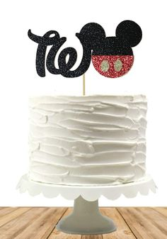 Mickey inspired Cake Topper, Smash Cake Top, Mickey Birthday, Birthday, Custom, Any Age, Baby, Disney Inspired, One, Two
