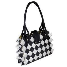 Top-handle bag, EcoChic Collection, created handfolded candy wrappers Double handle