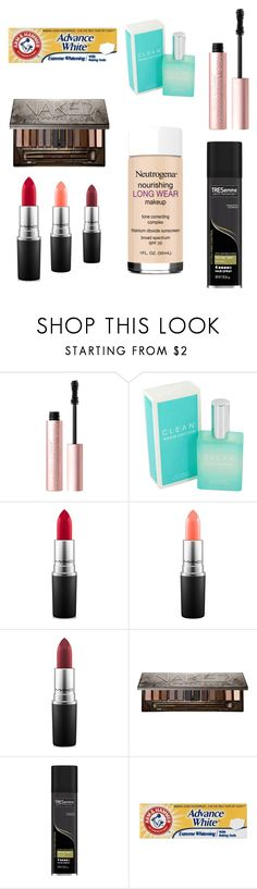 """""""Products I Recommend"""" by junoblu ❤ liked on Polyvore featuring beauty, Too Faced Cosmetics, CLEAN, MAC Cosmetics, Urban Decay and TRESemmé"""
