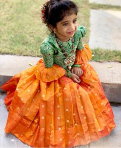 Ideas Dress For Kids Indian Wedding Source by Blouses Wedding Dresses For Kids, Dresses Kids Girl, Kids Outfits, Dress Wedding, Kids Indian Wear, Kids Ethnic Wear, Indian Dresses For Kids, Kids Frocks Design, Baby Frocks Designs