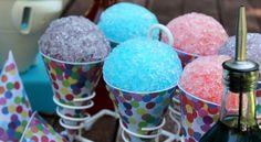 Homemade Snow Cones: 3 Ingredient Syrup Recipe