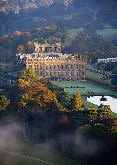 chatsworth house, derbyshire, england | english country house