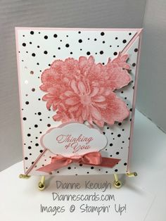 Heartfelt Blooms stamp set was used to create a card with a different fold, diagonal tri-fold. Used Springtime Foils Designer Paper. Tri Fold Cards, Fancy Fold Cards, Card Making Templates, Making Cards, Freebies, Shaped Cards, Stamping Up Cards, Card Making Techniques, Card Sketches