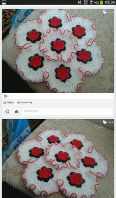 This Pin was discovered by hyk Crochet Doilies, Crochet Flowers, Crochet Stitches, Knit Crochet, Afghan Patterns, Knitting Patterns, Crochet Patterns, Crochet Circles, Paper Cutting