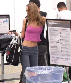 Lily-Rose Depp was spotted preparing to board a flight out of LAX in a very revealing outfit on Thursday. The donned a cropped pink tank top, which clearly showed off her nipples. Lily Rose Depp Style, Lily Rose Melody Depp, Fashion 2020, Look Fashion, Fashion Outfits, Vanessa Paradis, Looks Style, My Style, Aesthetic Clothes