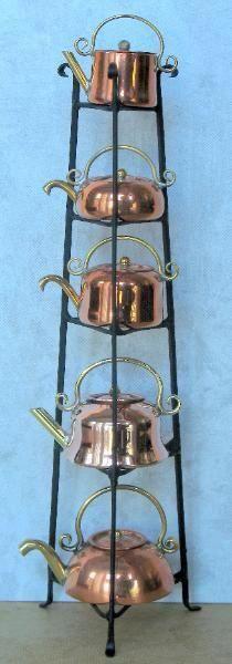 Arte E Antiquariato Complementi D'arredo Practical Portavaso In Rame Con Incisioni H 16 Cm