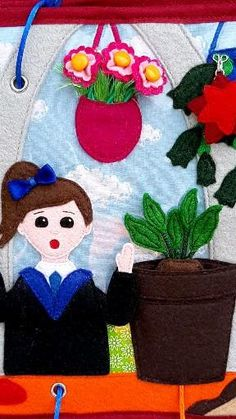 Diy Quiet Books, Felt Books, Balloon Flowers, The Balloon, Art For Kids, Crafts For Kids, Magic Crafts, Plants For Hanging Baskets, Felt Crafts Patterns