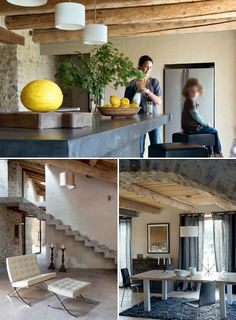 A Renovated Barn In The Provence | THE STYLE FILES Kitchen Tops, Kitchen  Island,