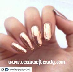 Home - Oceans of Beauty Mirror Nails, Mirror Art, Gold Powder, Dip Powder, Diy Nails, Manicure, Mirror Powder, Rose Gold Mirror, Chrome Nails