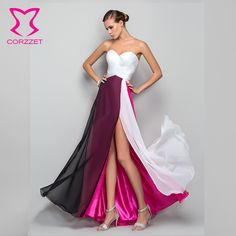 Sexy Mutiple Colors Floor-Length Women's Clothing Strapless Acrylic Evening Dresses Formal Vestidos Girls Sleeveless Dress