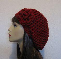 Slouchy Crocheted Hat Beanie
