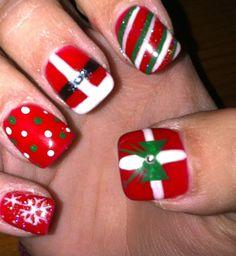 holiday fingernail designs | Christmas nails!! | nail designs