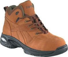 Reebok Womens Tan Leather Athletic Hiker Boots Tyak ESD Composite Toe 125 W  -- Find