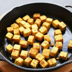 The fastest, easiest way to make crispy tofu for any dish. Just 4 ingredients and 25 minutes required! Perfect for adding to stir fries, curries and more!