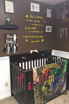 The mother of four created a Harry Potter-themed nursery with elaborate details true fans can really appreciate.