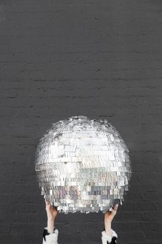 DIY Disco Ball Piñata. @thecoveteur