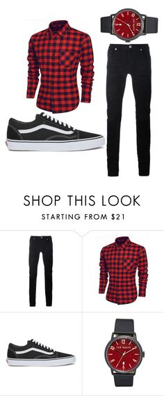 """Men"" by ludmilagorjon ❤ liked on Polyvore featuring Diesel Black Gold, Vans, Ted Baker, men's fashion and menswear"