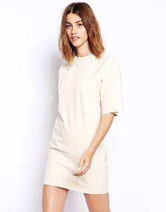 Nude tunic shift dress